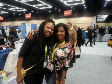 Fiction Editor Fabienne Sylvia Merritt and writer Jennifer Maritza McCauley