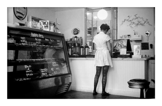 Girl in Bakery,  original fine art print, 8x12, by sixthandmain