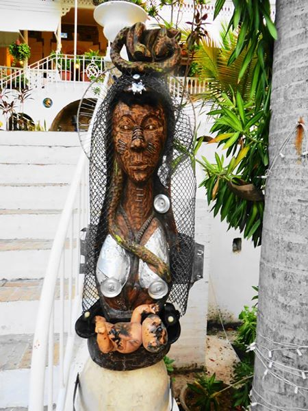 The Madonna (Recycled art piece),  from an Atis Rezistans exhibition at the Oloffson.