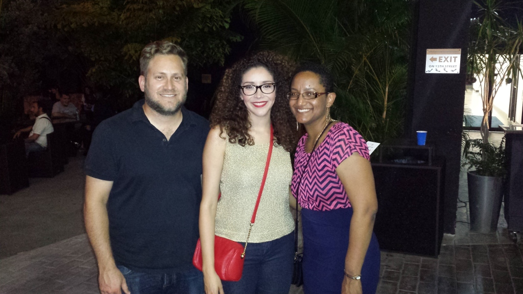 From left to right: P. Scott Cunningham (O, Miami), Gladys Ramirez (director), and M.J. Fievre (playwright)